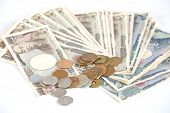 picture of japanese coin  - Japanese currency bank notes and coin  - JPG