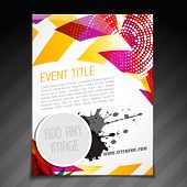 picture of newsletter  - vector event  brochure flyer template poster design - JPG