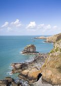 image of sark  - Coastal scene on Sark looking out over the English Channel - JPG