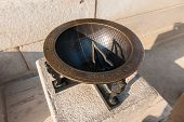 stock photo of sundial  - The sundial of Gyeongbokgung Palace in Seoul South Korea - JPG