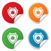stock photo of shield-bug  - Shield sign icon - JPG