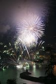 image of genova  - Pyrotechnic event of late summer in Recco Genova Italy - JPG