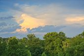 stock photo of knoxville tennessee  - Tennessee landscape with colorful stormy sky and trees - JPG