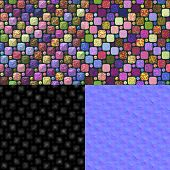 picture of diffusion  - Glazed tiles seamless generated texture  - JPG