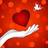stock photo of enamored  - Heart enamored - JPG
