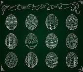 stock photo of egg  - Chalk hand - JPG