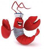 picture of lobster boat  - Fun lobster - JPG