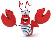 stock photo of lobster boat  - Fun lobster - JPG