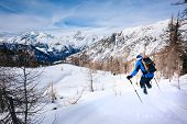 image of italian alps  - Winter sport - JPG