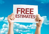 image of hands-free  - Free Estimates card with sky background - JPG