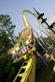image of amusement park rides  - Rollercoaster ride - JPG
