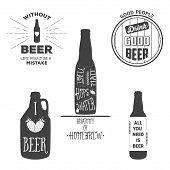 foto of brew  - Vintage craft beer brewery emblems labels and design elements - JPG