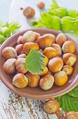 pic of cobnuts  - hazelnuts on a table - JPG