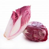picture of chicory  - red chicory - JPG