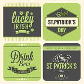 foto of saint patrick  - Vintage typographic sticker - JPG