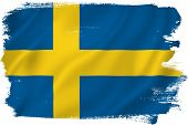 pic of sweden flag  - Sweden flag backdrop background texture isolated on white - JPG