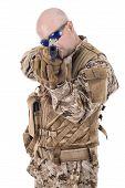 picture of glock  - Soldier in uniform - JPG