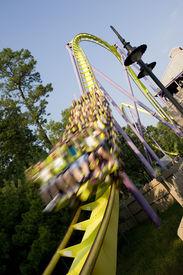 foto of amusement park rides  - Rollercoaster ride - JPG