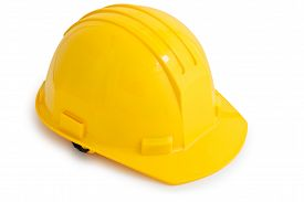 image of personal safety  - Yellow safety hard hat - JPG