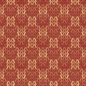 stock photo of knitwear  - Beautiful geometric pattern Knitwear - JPG