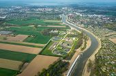 pic of sewage  - Aerial view of the sewage treatment plant - JPG