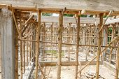 image of scaffold  - the scaffold and building structure during construction - JPG