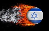picture of israeli flag  - Concept of speed  - JPG