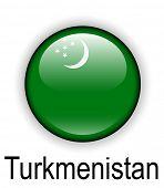 stock photo of turkmenistan  - turkmenistan official state flag - JPG