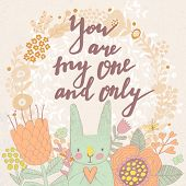 image of hare  - You are my one and only - JPG