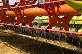 picture of combine  - the combine harvesters photographed by a close up - JPG