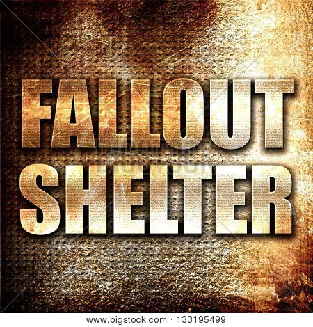 fallout shelter 3D rendering metal