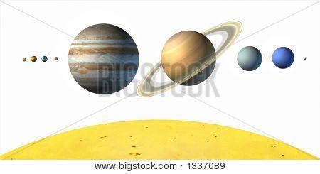 Постер, плакат:  Планеты, холст на подрамнике