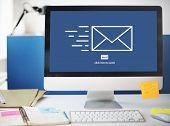 Messaging Email Send Envelope Communication Concept poster