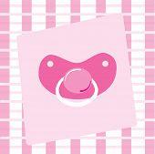 pic of dodo  - Cute pink baby infant newborn girl pacifier - JPG