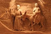 picture of roster  - Salt decorations in Wieliczka Salt Mine Krakow - JPG