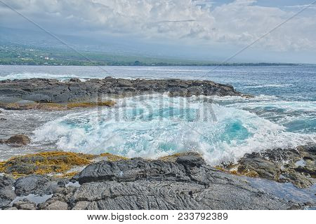 Turbulent Vocanic Rock Landscape With