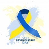 World Down Syndrome Day. Event For Mental Illness Awareness. poster