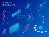 Flat Isometric Infographic For Your Business Presentations. Set Of Infographics With Data Financial  poster