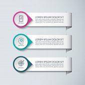 Infographic Design Template. Vector Concept For Business Infographics With 3 Steps, Options, Parts.  poster