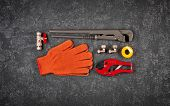 Key For Water Pipes, Plumbing Tools, Protective Gloves, Accessories For Water Supply, Autonomous Hea poster