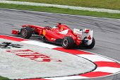 SEPANG, MALAYSIA - APRIL 8: Fernando Alonso of the Scuderia Ferrari Team takes to the tracks on prac