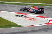 SEPANG, MALAYSIA - APRIL 8: Mark Webber of the Red Bull Racing Team takes to the tracks on practice