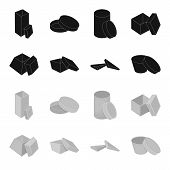 Case, Shell, Framework, And Other  Icon In Black, Monochrome Style.box, Container, Package Icons In  poster