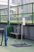 picture of umpire  - close view of tennis umpire chair in tennis court - JPG