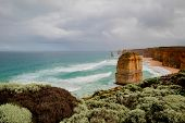 Twelve Apostles During Day Light. Picturesque Landscape. Great Ocean Road, Victoria, Australia poster