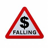 pic of depreciation  - A modified road sign warning of a dollar depreciation - JPG
