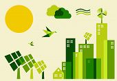 stock photo of sustainable development  - Go green city - JPG
