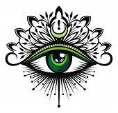 Tattoo Flash. Eye Of Providence. Masonic Symbol. All Seeing Eye poster