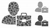 Accounting Mosaic Of Unequal Items In Different Sizes And Color Tones, Based On Accounting Icon. Vec poster