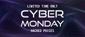Cyber Monday Vector Banner Design Template. Trendy Concept Of Sale For Online Shopping. Promo Text O poster